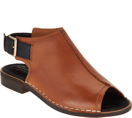Clarks Somerset Leather Peep Toe Sandals Cabaret Charm