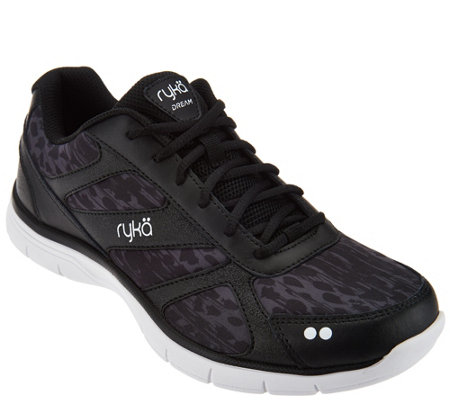 Ryka Leather and Mesh Lace-up Sneakers - Dream