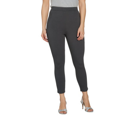Lisa Rinna Collection Regular Knit Cropped Pants