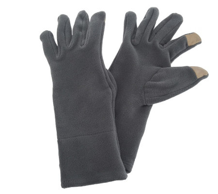 """As Is"" Slim Fit Microfleece Touch Screen Gloves by HotHeadz"