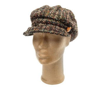 """As Is"" Collection XIIX Boucle Cabby Hat with Stone Jewel Accent - A291208"