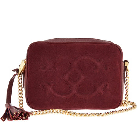 """As Is"" C. Wonder Pebble Leather and Suede Crossbody Handbag"