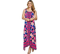 C. Wonder Petite Printed Handkerchief Maxi Dress - A292208