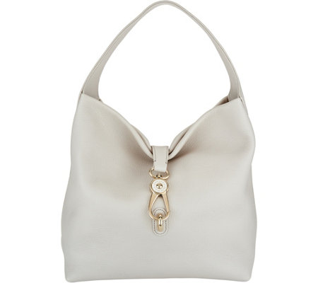 Dooney & Bourke Belvedere Leather Hobo with Logo Lock