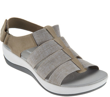 """As Is"" CLOUDSTEPPERS by Clarks Sport Sandals - Arla Shaylie"