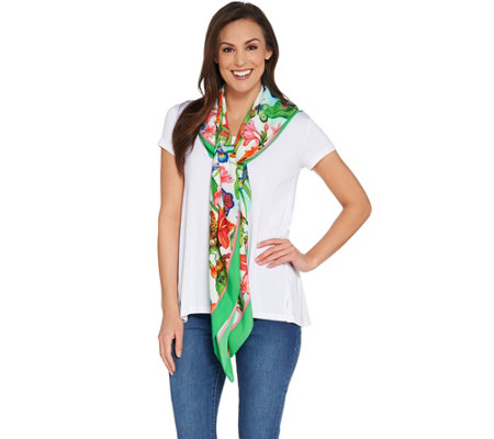 Linea by Louis Dell'Olio Tiger Lily Scarf