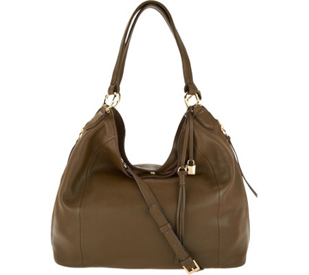 """As Is"" G.I.L.I. Pebble Leather Slouchy Wing Hobo"