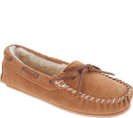 """As Is"" Clarks Suede Women's Moccasin Slippers"