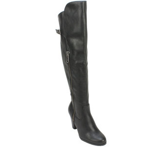 Rialto Over the Knee Heeled Boot with Buckle Detail - Violet - A355208