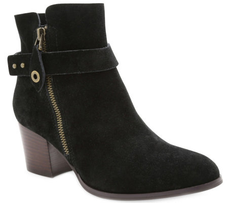Kensie Suede Leather Ankle Booties - Seamore