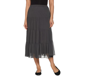 Linea by Louis Dell'Olio 4-Tier Crinkle Boho Skirt - A70208