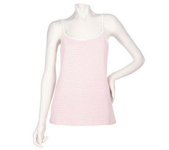 Sport Savvy Essentials Stretch Jersey Knit Striped Camisole - A201009