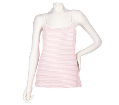 Sport Savvy Essentials Stretch Jersey Knit Striped Camisole