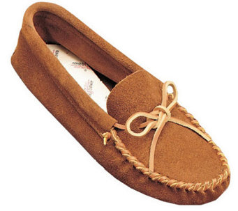 Minnetonka Men's Leather Laced Softsole Moccasins - A208709