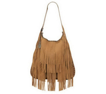 Muxo by Camila Alves Leather Fringe Hobo - A219209