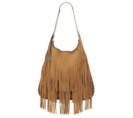 Muxo by Camila Alves Leather Fringe Hobo