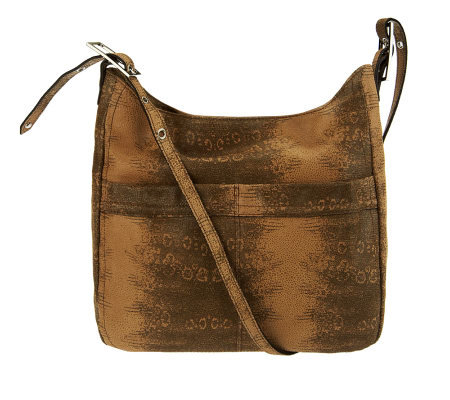 B. Makowsky Leather Adjustable Shoulder Bag w/Front ...