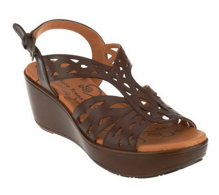 BareTraps Dallas Wedge Sandals with Adj. Back Strap