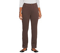 Liz Claiborne New York Petite Ponte Knit Slim Leg Pants - A256509