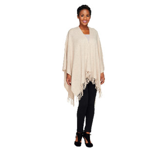 Isaac Mizrahi Live! 2-Ply Cashmere Shawl with Fringe Detail - A257909