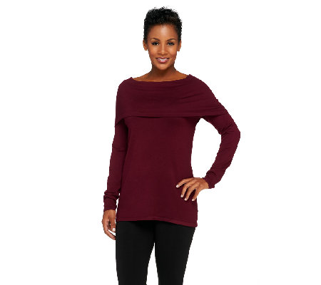 Linea by Louis Dell'Olio Whisper Knit Funnel Neck Sweater