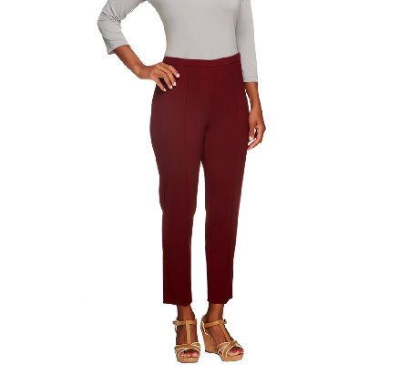 """As Is"" Susan Graver Petite Chelsea Stretch Side Zip Ankle Pants"