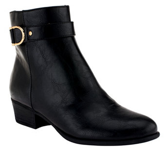 """As Is"" Liz Claiborne New York Ankle Boots with Horsebit Detail - A268209"