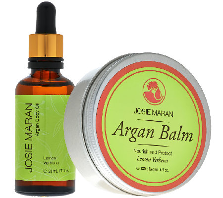 Josie Maran Balm & Body Oil Duo in Lemon Verbena