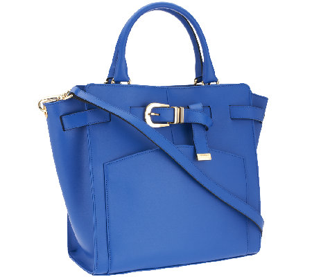 """As Is"" Marc Fisher Diana Smooth Leather Belted Shopper"