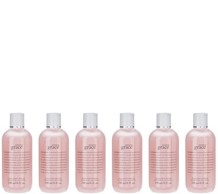 philosophy 6 piece amazing grace shower gel collection