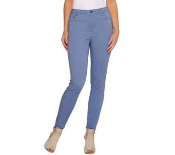 LOGO by Lori Goldstein Regular Five Pocket Straight Leg Jeans - A274109