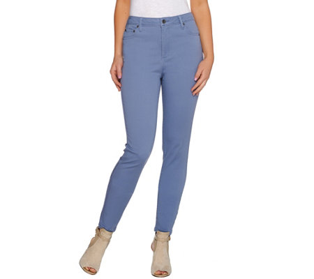 LOGO by Lori Goldstein Regular Five Pocket Straight Leg Jeans