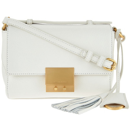 Isaac Mizrahi Live! Whitney Pebble Leather Crossbody Handbag