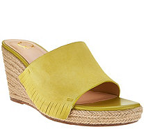 C. Wonder Suede Wedge Espadrilles with Fringe - Freida - A276409