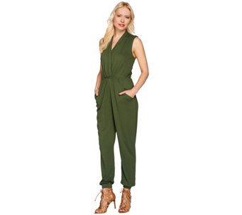 Lisa Rinna Collection Petite Banded Bottom Knit Jumpsuit - A277309