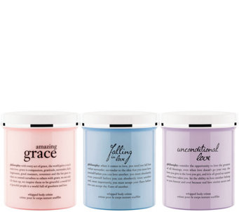 philosophy grace & love whipped body creme trio - A279609