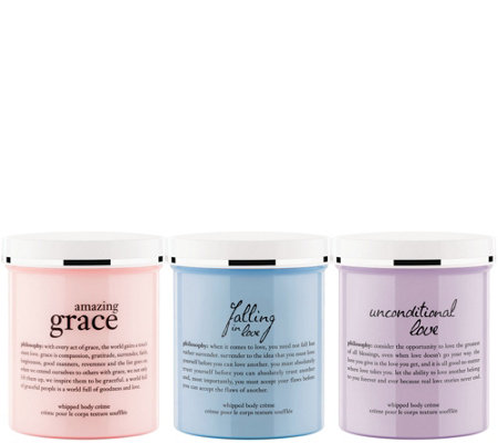philosophy grace & love whipped body creme trio