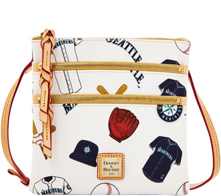 Dooney & Bourke MLB Mariners Triple Zip Crossbody