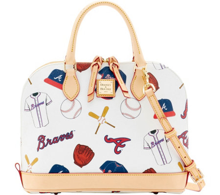 Dooney & Bourke MLB Braves Zip Zip Satchel