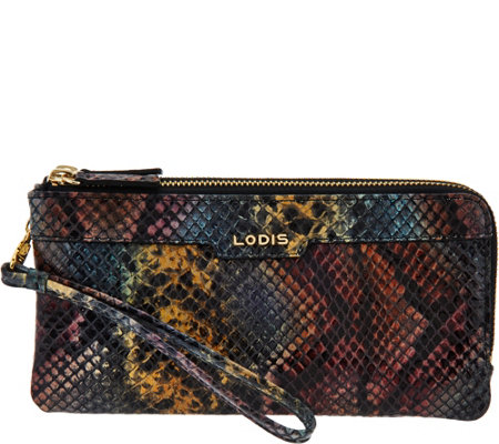 LODIS Italian Leather Double Zip Wristlet with RFID - Kennedy