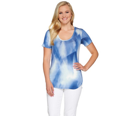 """As Is"" Lisa Rinna Collection Printed Knit Top"