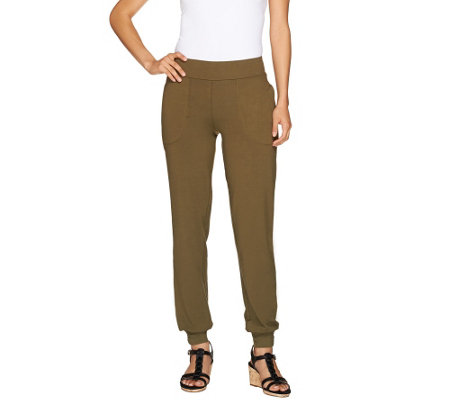 """As Is"" Women with Control Contour Wasit Pants with Banded Bottom"