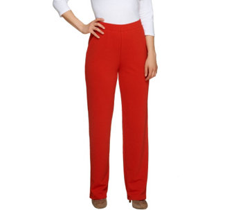 """As Is"" George Simonton Textured Knit Pull-on Regular Pants - A285909"
