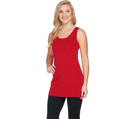 Linea by Louis Dell'Olio Whisper Knit Full Needle Tunic Tank