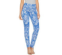 Susan Graver Weekend Printed French Knit Leggings - A288509