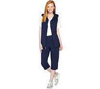 Denim & Co. Active French Terry Vest and Capri Pants Set - A288709