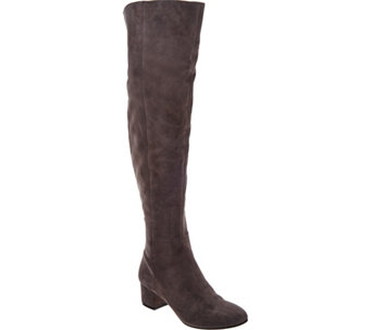 """As Is"" Marc Fisher Leather or Suede Over the Knee Boots - Instinct - A291309"