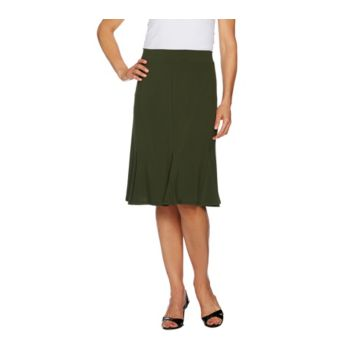 Susan Graver Textured Liquid Knit Skirt with Godets