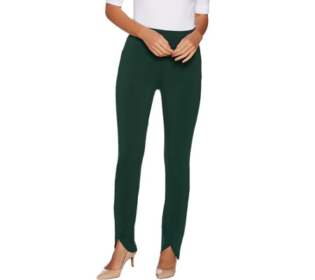 Susan Graver Petite Premium Stretch Pants with Tulip Hem