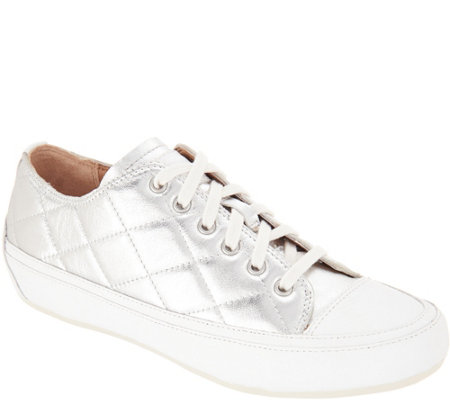 Vionic Orthotic Quilted Lace-up Sneakers - Edie